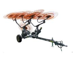 Грабли прицепные колесно пальцевые серии H90 Навигатор спица 7мм