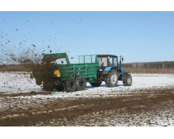 Машина для внесения твердых органических удобрений МТТ 9