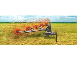 Грабли колесно пальцевые навесные серии RP4 5 спица 7мм